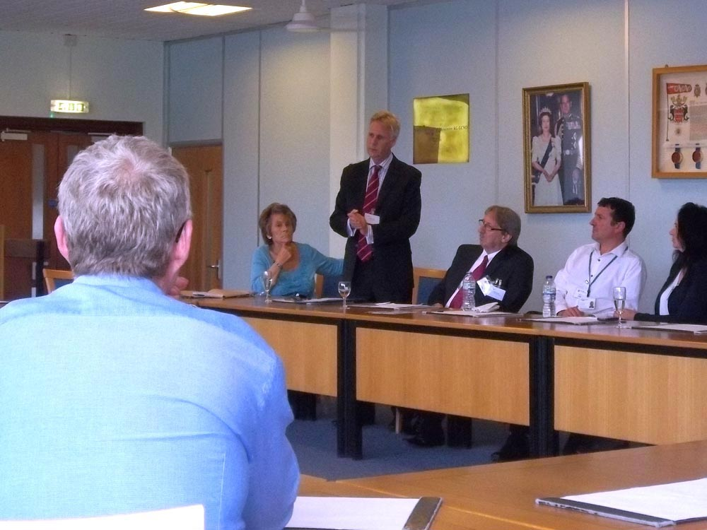 Senior Partner David Young speaks at the scams-prevention service launch