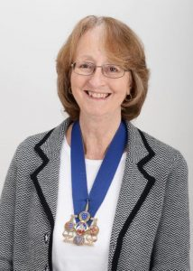 Jane Strickland wearing her chains of office
