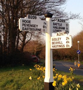 East Sussex road sign