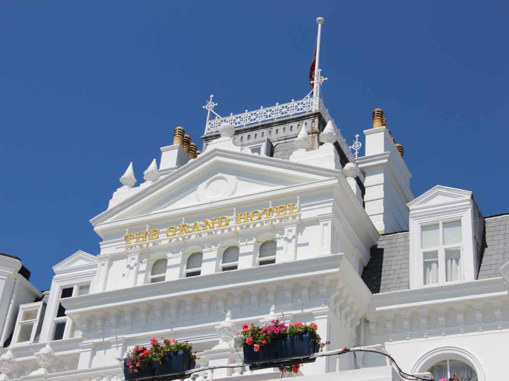Outside Eastbourne's Grand Hotel