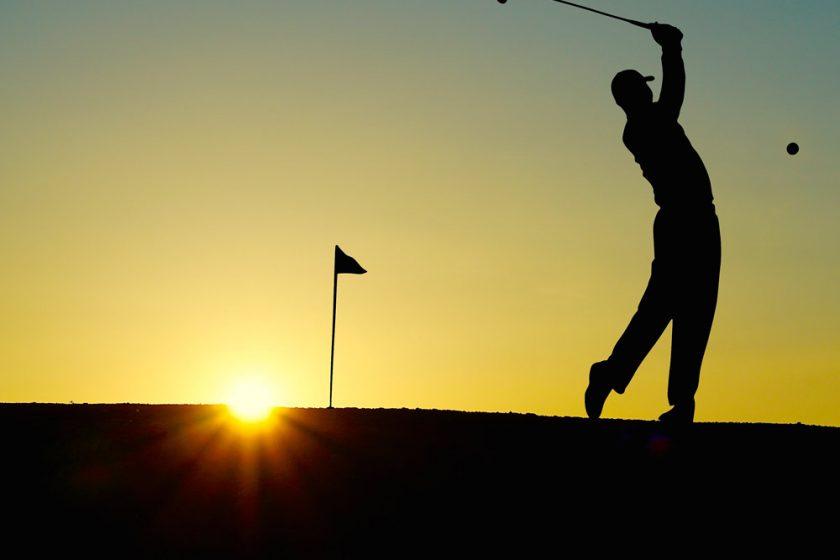 Golfer silhouette