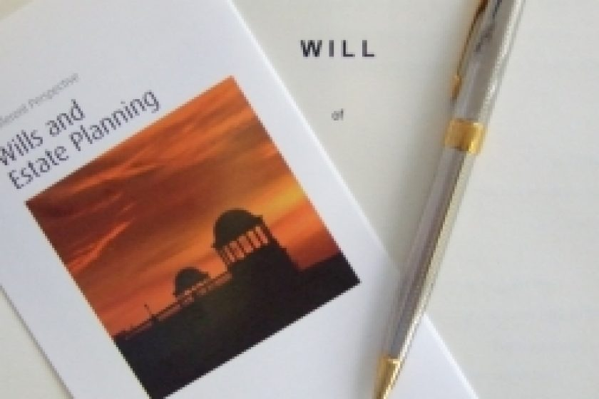 Will, pen and booklet