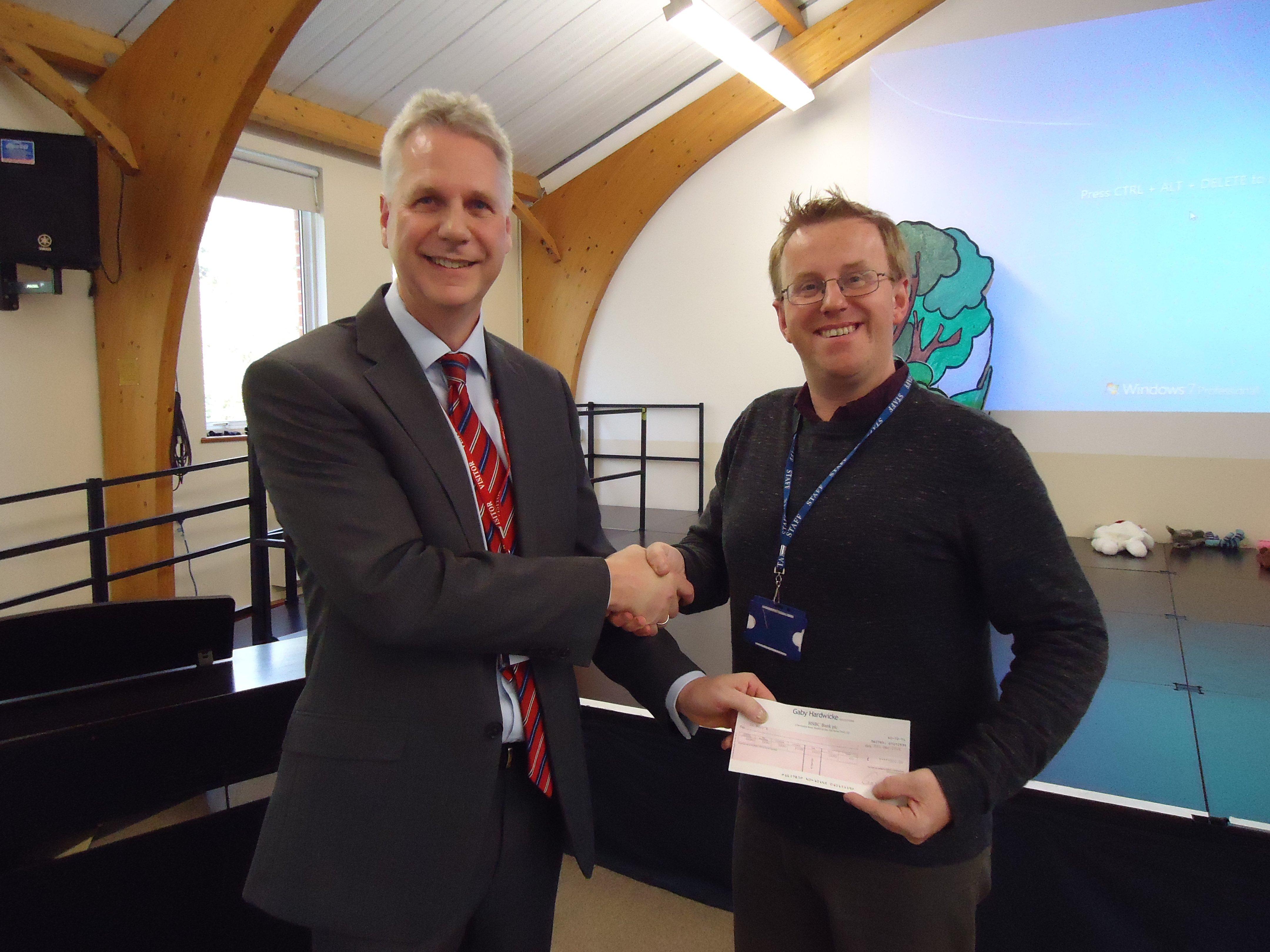 David Young with Jonathan Smalldon (Fundraising Manager)
