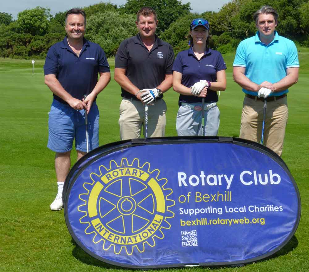 Our team at the Rotary Club of Bexhill Charity Golf Day