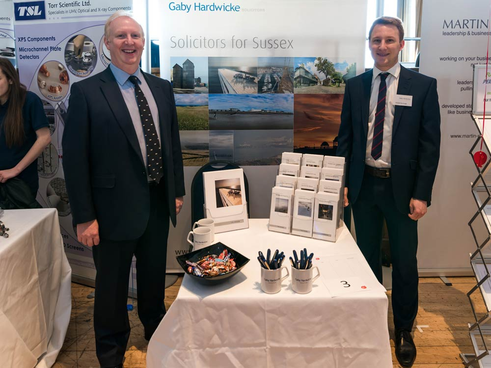 David Getty (Managing Partner) and Daniel Gorringe (Conveyancing Assistant) at the jobs fair
