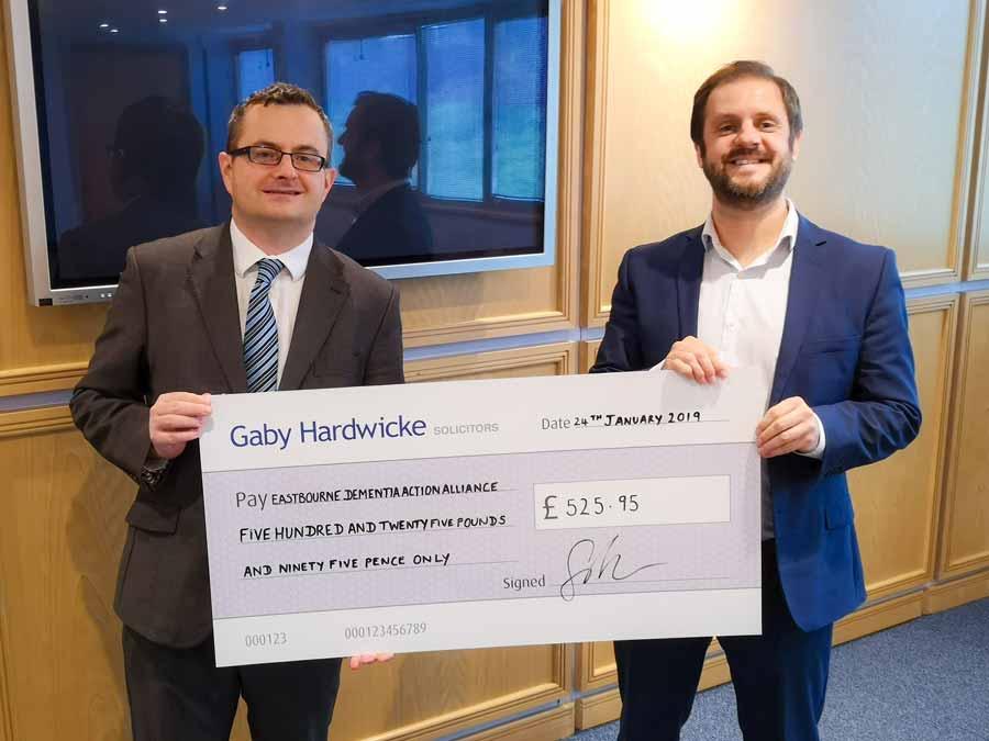 Eastbourne DAA cheque presentation